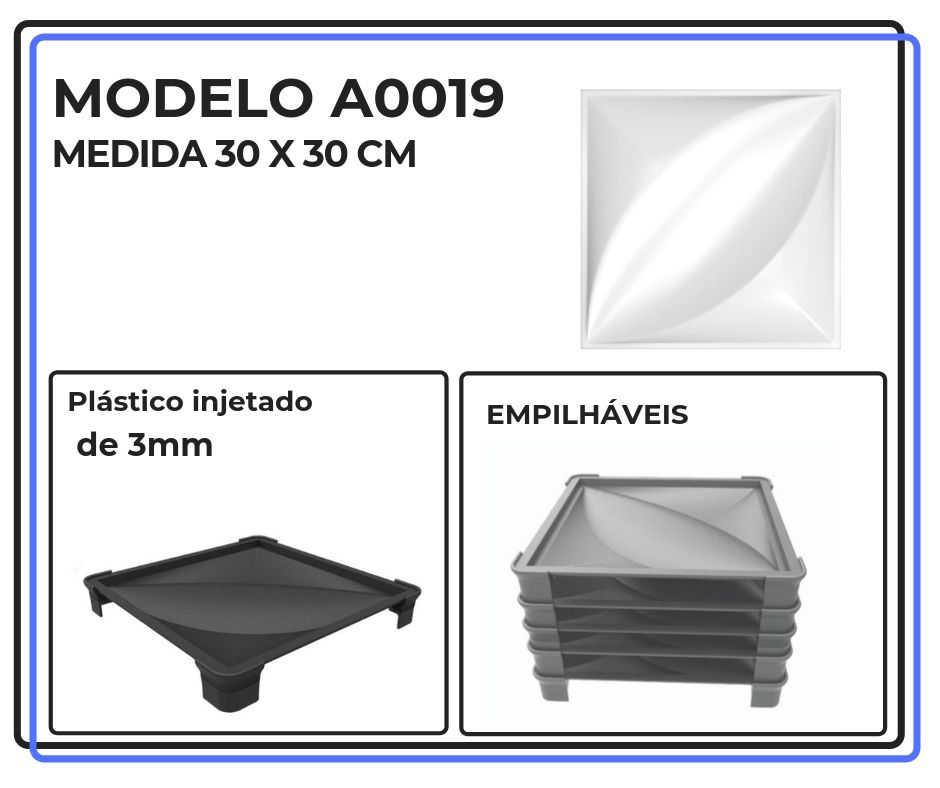 Modelo A0019 30 x 30 cm