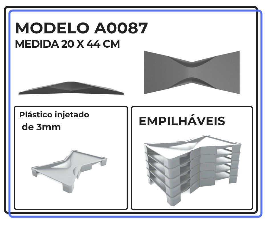 Modelo A0087 20 x 44 cm