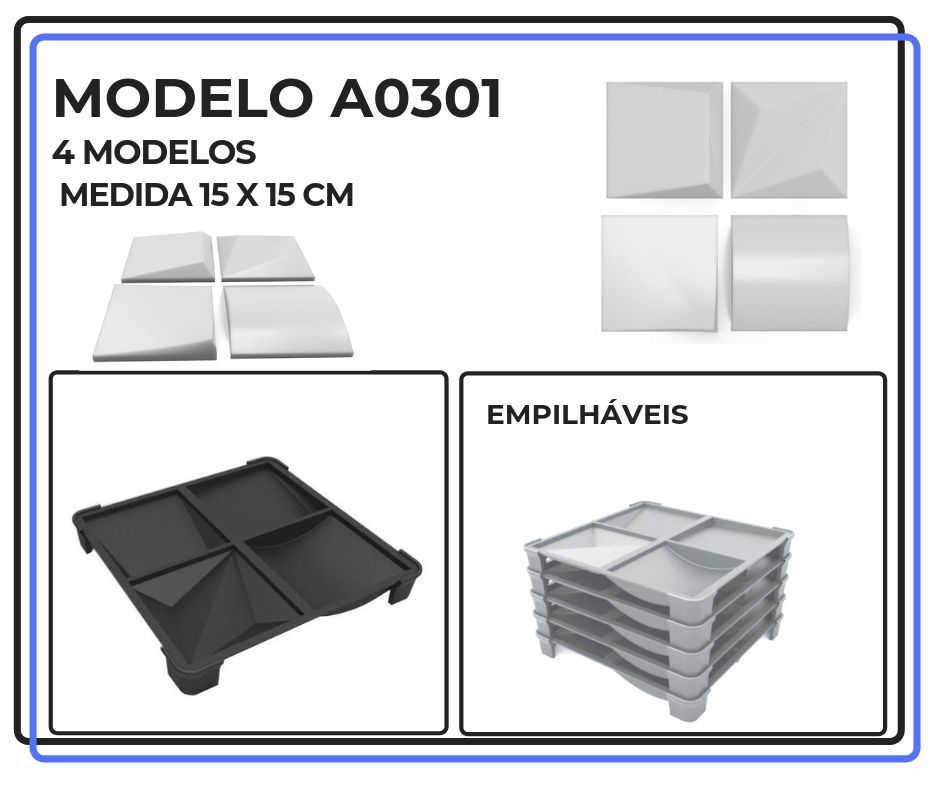 Modelo A0301 15 x 15 cm