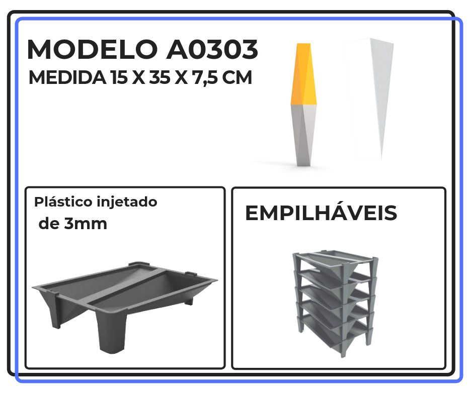 Modelo A0303 15 x 35 x 7,5 cm
