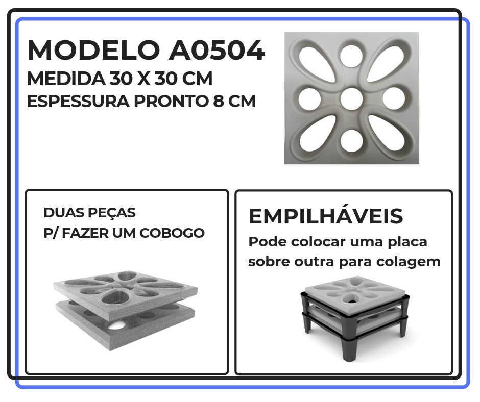 Modelo A0504 30 x 30 cm