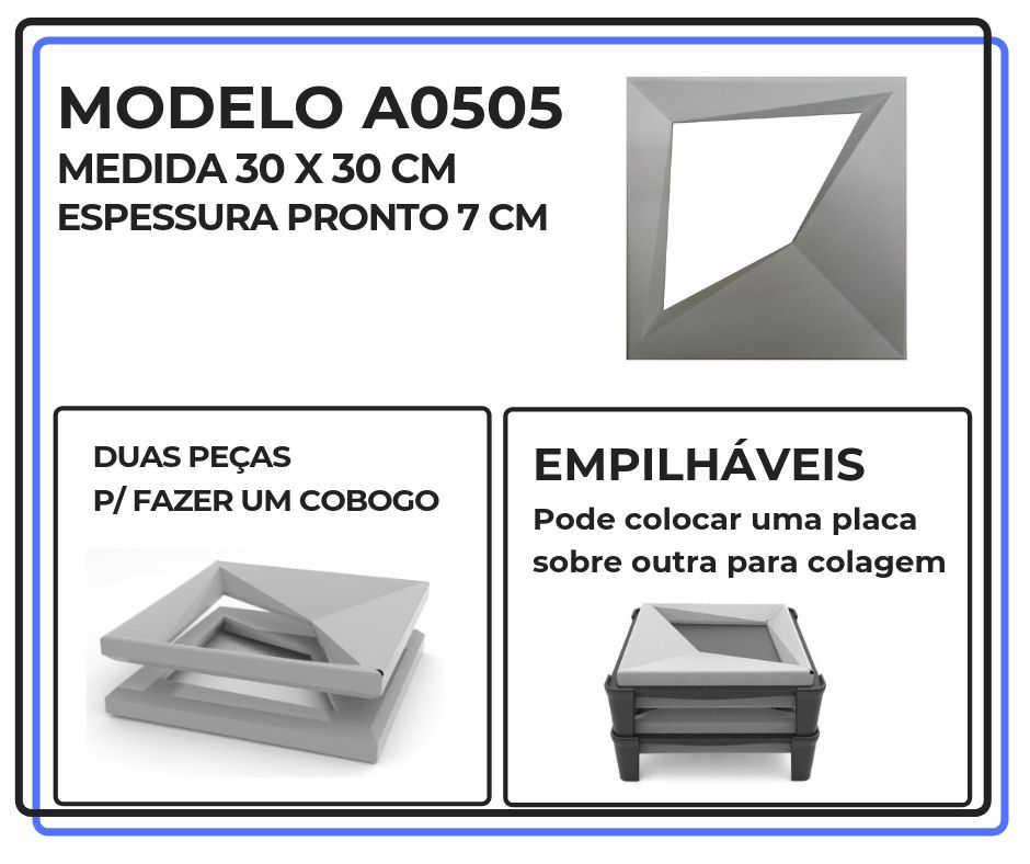 Modelo A0505 30 x 30 cm