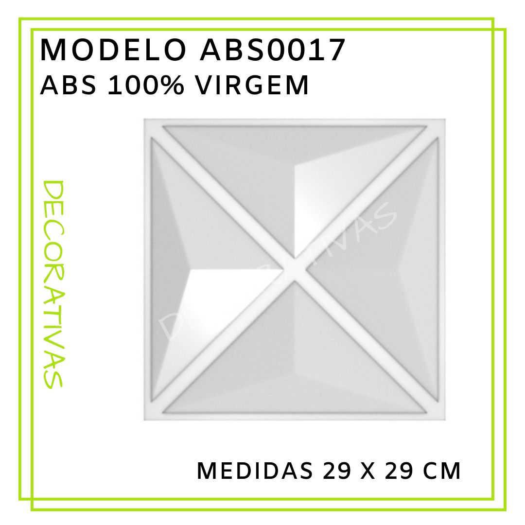 Modelo ABS0017 29 x 29 cm