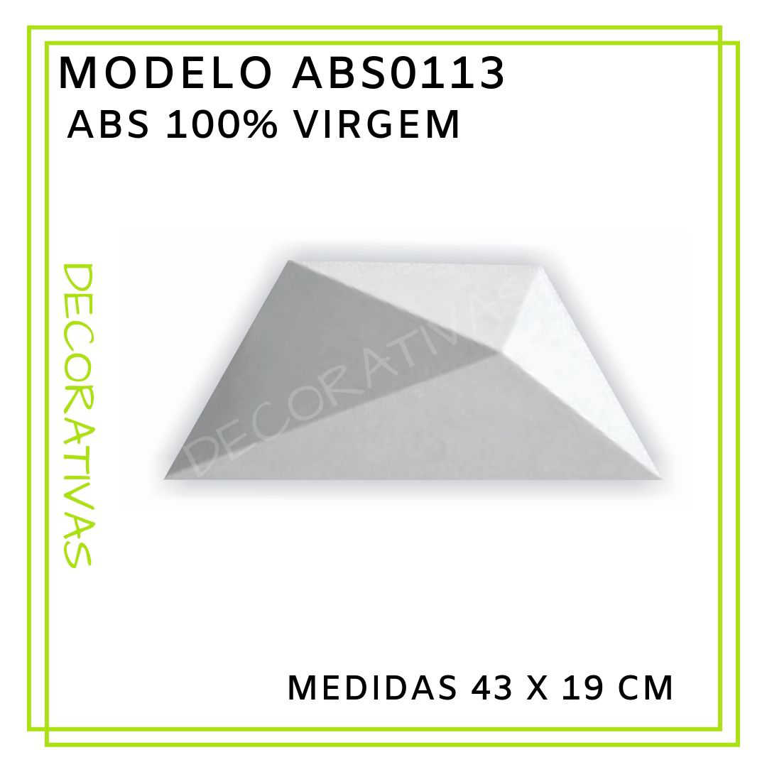 Modelo ABS0113 43 x 19 cm