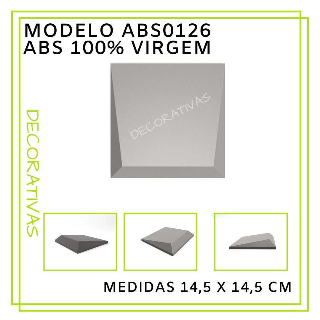 Modelo ABS0126 14,5 x 14,5 cm