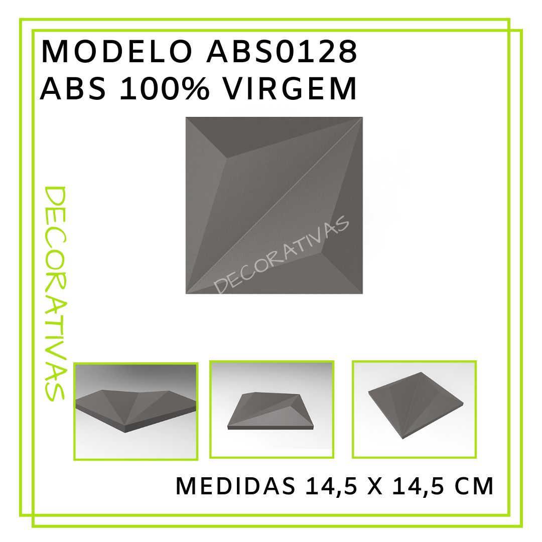 Modelo ABS0128 14,5 x 14,5 cm