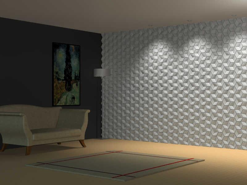 Revestimento cimento A0300-2 15 x 18 x 2,8 cm
