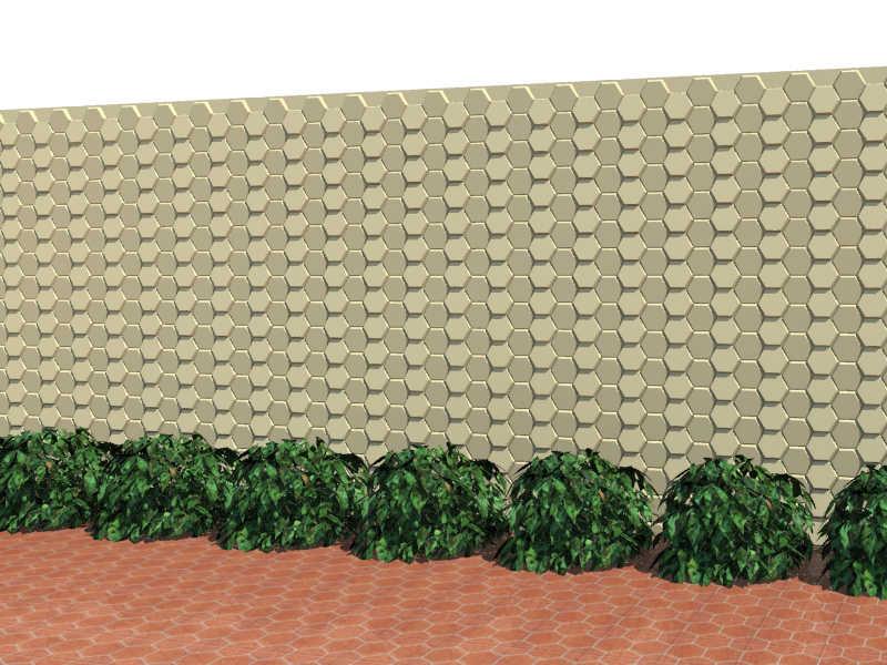 Revestimento cimento A0300-3 15 x 15 x 2,8 cm